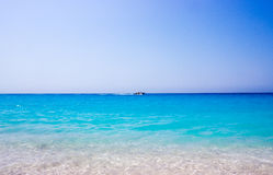 芦粟海滩,莱夫卡斯州,希腊 库存图片