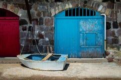 芦粟的Firopotamos村庄在希腊 免版税库存图片