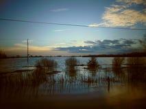 芬兰区洪水 图库摄影
