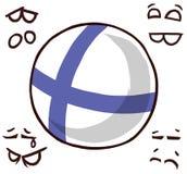 芬兰国家球 皇族释放例证