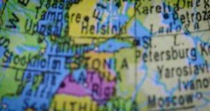 芬兰地区国家地图  影视素材