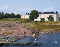芬兰堡垒赫尔辛基海运suomenlinna 免版税图库摄影