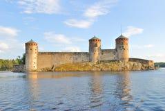 芬兰堡垒olavinlinna savonlinna 库存图片