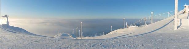 芬兰手段ruka滑雪 免版税图库摄影