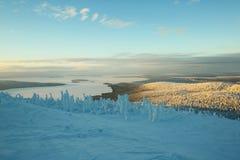 芬兰拉普兰在冬天 库存图片