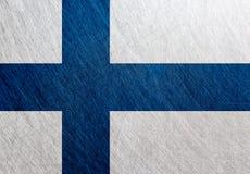 芬兰旗子,葡萄酒,减速火箭,被抓 免版税图库摄影