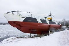 芬兰水下Vesikko,芬兰堡 库存照片