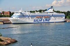 芬兰港口赫尔辛基线路silja 免版税库存照片