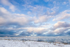 芬兰湾,俄罗斯 33c 1月横向俄国温度ural冬天 免版税库存图片