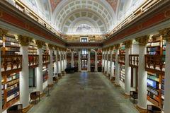 芬兰的国立图书馆的内部 免版税库存照片