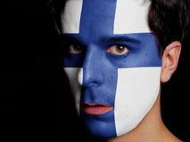 芬兰的旗子 免版税库存照片