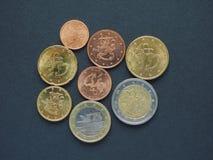 从芬兰的欧洲硬币 库存照片