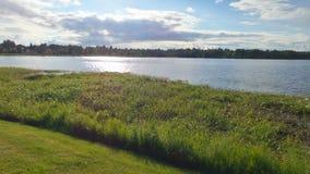 从芬兰的湖 库存图片