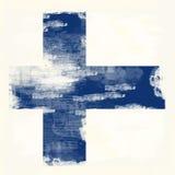 芬兰的Grunge标志 免版税库存照片