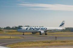 芬兰航空公司飞机 免版税库存照片