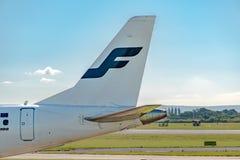芬兰航空公司巴西航空工业公司ERJ-190 库存照片