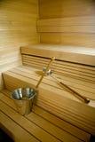 芬兰蒸汽浴 免版税库存照片