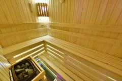 芬兰蒸汽浴 库存照片