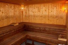 芬兰蒸汽浴 库存图片