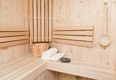 芬兰蒸汽浴 免版税库存图片
