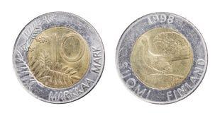芬兰语的硬币 免版税库存图片