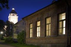芬兰赫尔辛基晚上 库存照片