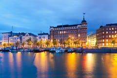 芬兰赫尔辛基老码头城镇 图库摄影