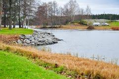芬兰风景。 免版税库存图片