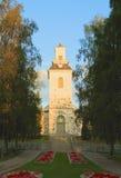 芬兰,库奥皮奥:大教堂在早晨太阳 库存图片