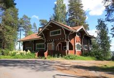 芬兰,库奥皮奥:芬兰建筑学- Lars Sonck Villa (1902) 库存图片