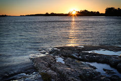 芬兰:波罗的海的海岸 库存图片