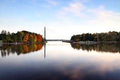 芬兰:秋天颜色在赫尔辛基 库存图片