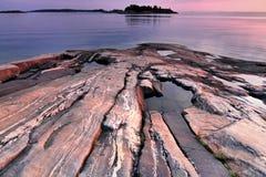 芬兰: 冰河时期注解  库存照片