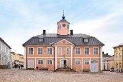 芬兰 城市波尔沃 城镇厅 免版税图库摄影