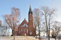 芬兰 福尔萨大教堂 库存照片