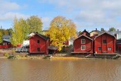 芬兰 秋天在波尔沃 图库摄影