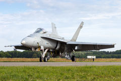 芬兰F-18大黄蜂 免版税库存照片