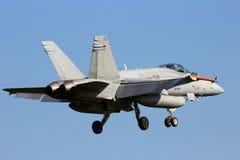 芬兰F-18大黄蜂 免版税图库摄影