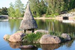 芬兰kotka公园sapokka城镇 库存照片