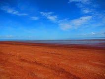 芬地海湾休斯敦` s海滩新斯科舍 图库摄影
