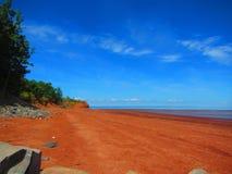 芬地海湾休斯敦` s海滩新斯科舍 免版税图库摄影