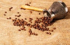 芬芳豆的咖啡 免版税库存图片