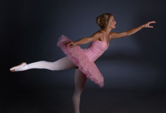 芭蕾倾斜 库存照片