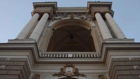 芭蕾傲德萨歌剧剧院 正面图从下面 股票录像