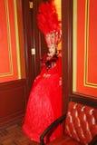 芭蕾剧院的演员,总理在宫殿奥林匹亚的状态屋子招呼了客人 免版税图库摄影