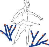 芭蕾和芭蕾舞女演员 库存照片