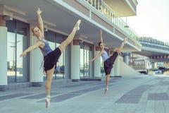 芭蕾在城市 免版税库存图片