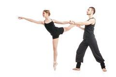芭蕾夫妇跳舞 免版税图库摄影