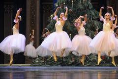 芭蕾女孩跳跃的这芭蕾胡桃钳 免版税库存图片