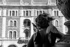 芭蕾学院或Drechsler宫殿在布达佩斯 免版税库存照片